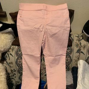 Girls justice light coral pull on jeans